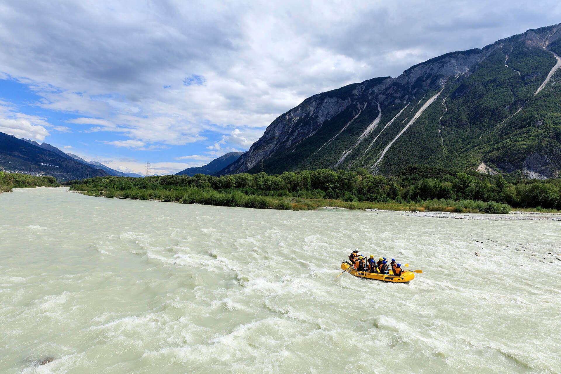Le fleuve Rhône, Km 81 Canton du Valais, Sierre