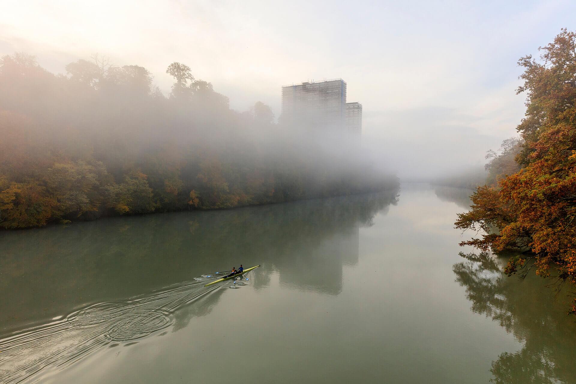 Le fleuve Rhône, Km 244 Canton de Genève, Vernier