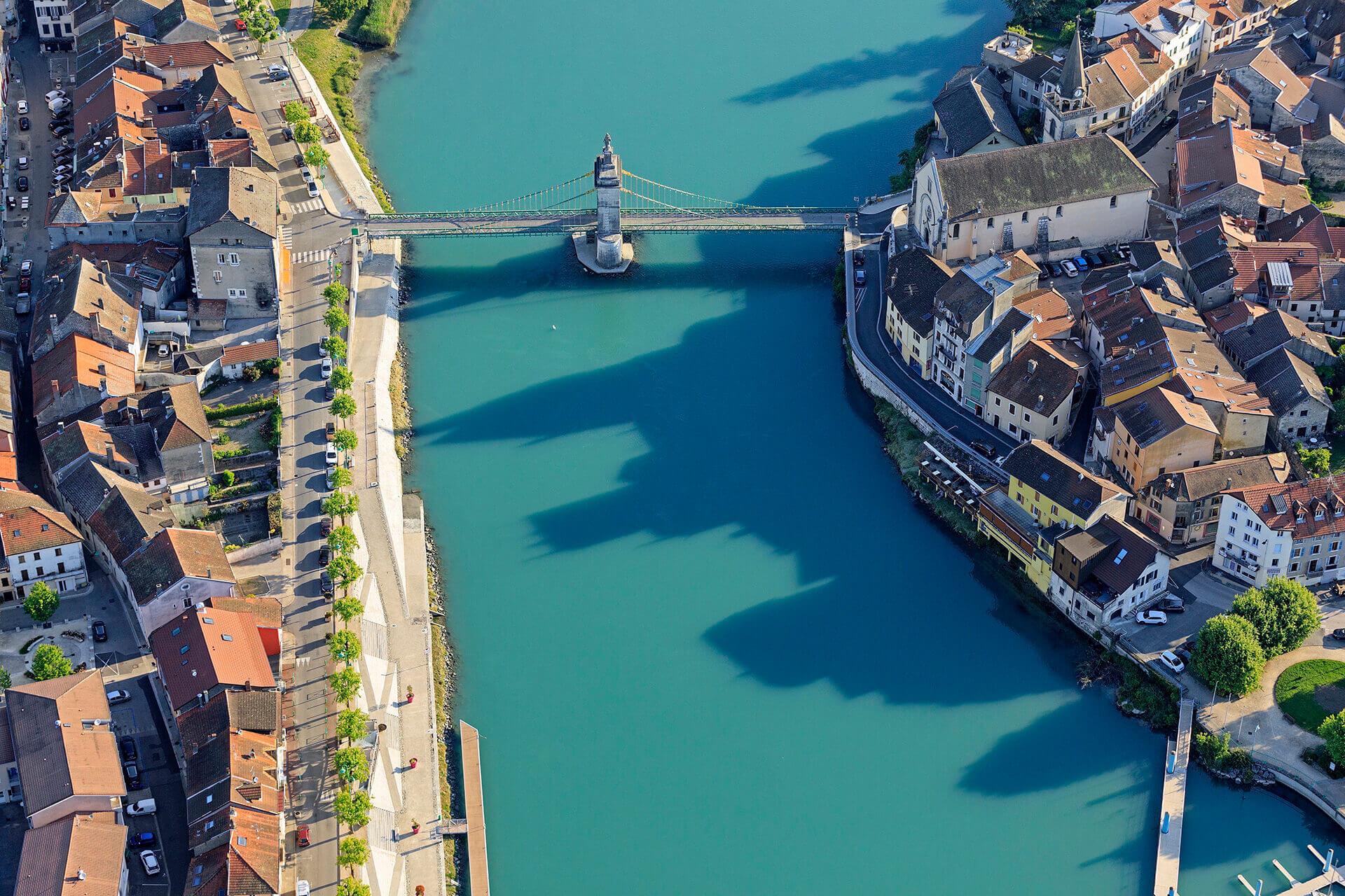 Le fleuve Rhône, Km 303 Ain Seyssel, Haute-Savoie Seyssel
