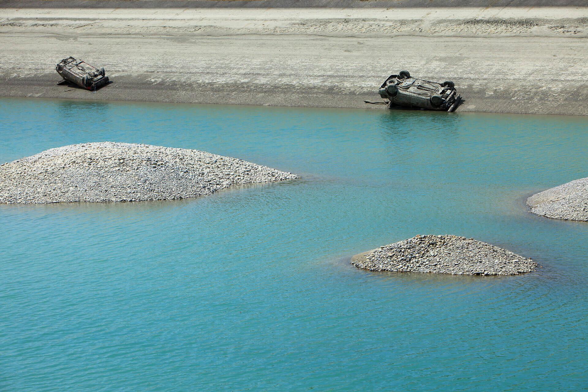 Le fleuve Rhône, Km 307 Ain, Anglefort
