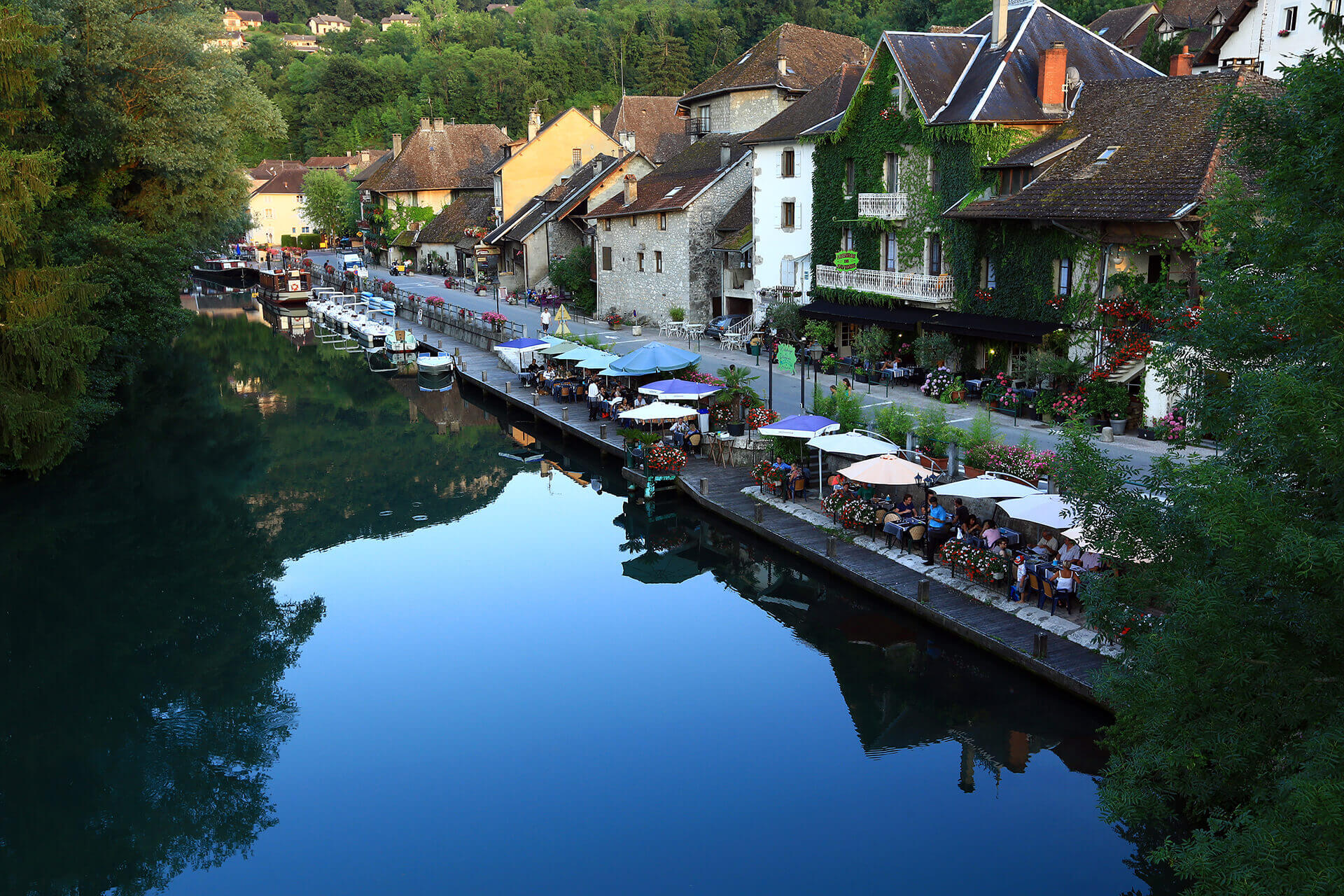 Le fleuve Rhône, Km 320 Savoie, Chanaz