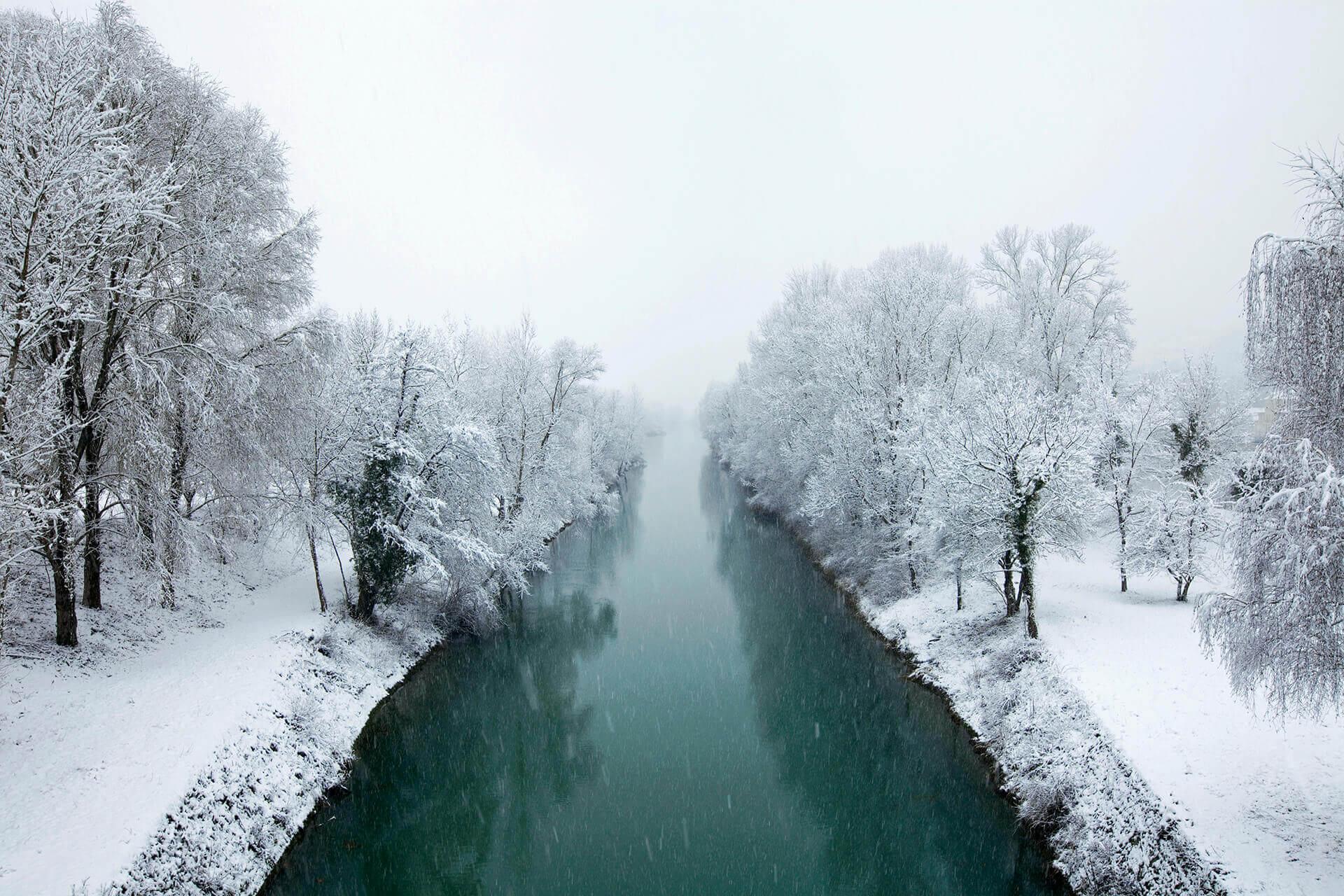 Le fleuve Rhône, Km 387 Savoie, Porcieu-Amblagnieu, Île de la Serre