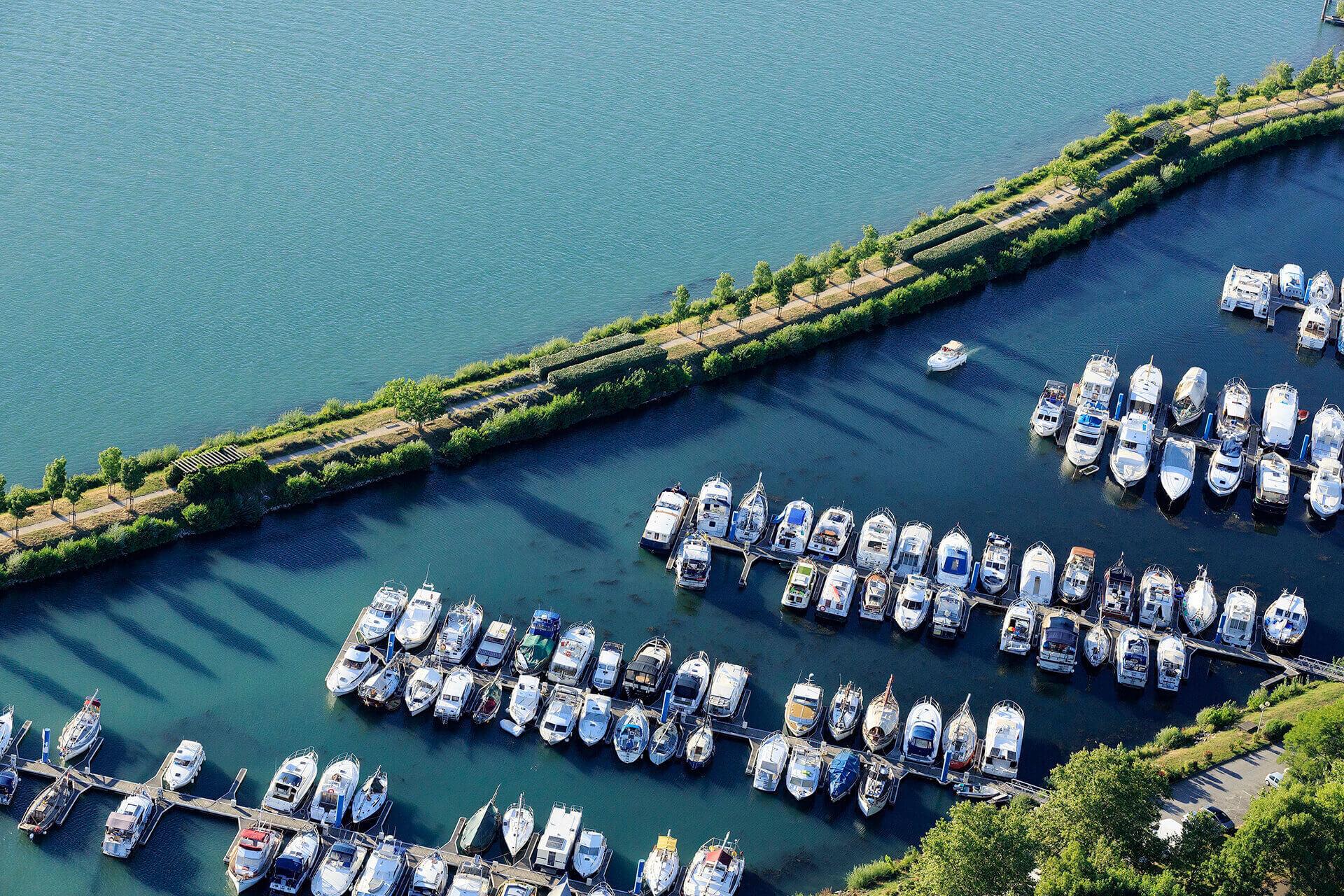 Le fleuve Rhône, Km 556 Drôme, Valence, Port de l'Épervière