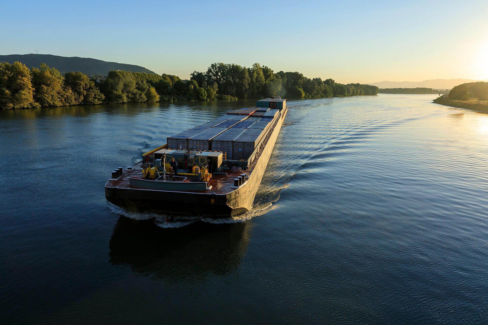 Le fleuve Rhône, Km 570 Ardèche, La Voulte-sur-Rhône