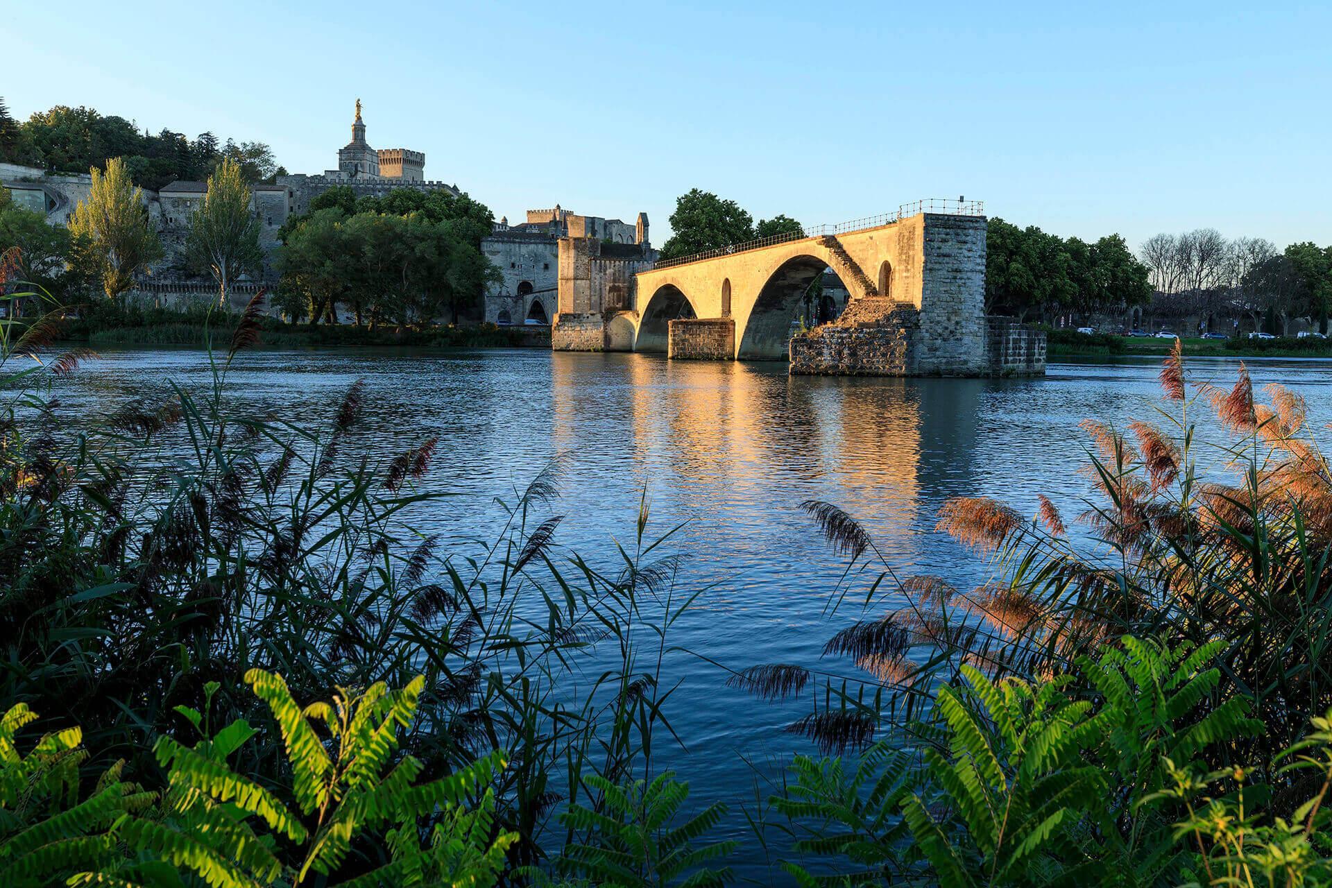 Le fleuve Rhône, Km 682 Vaucluse, Avignon