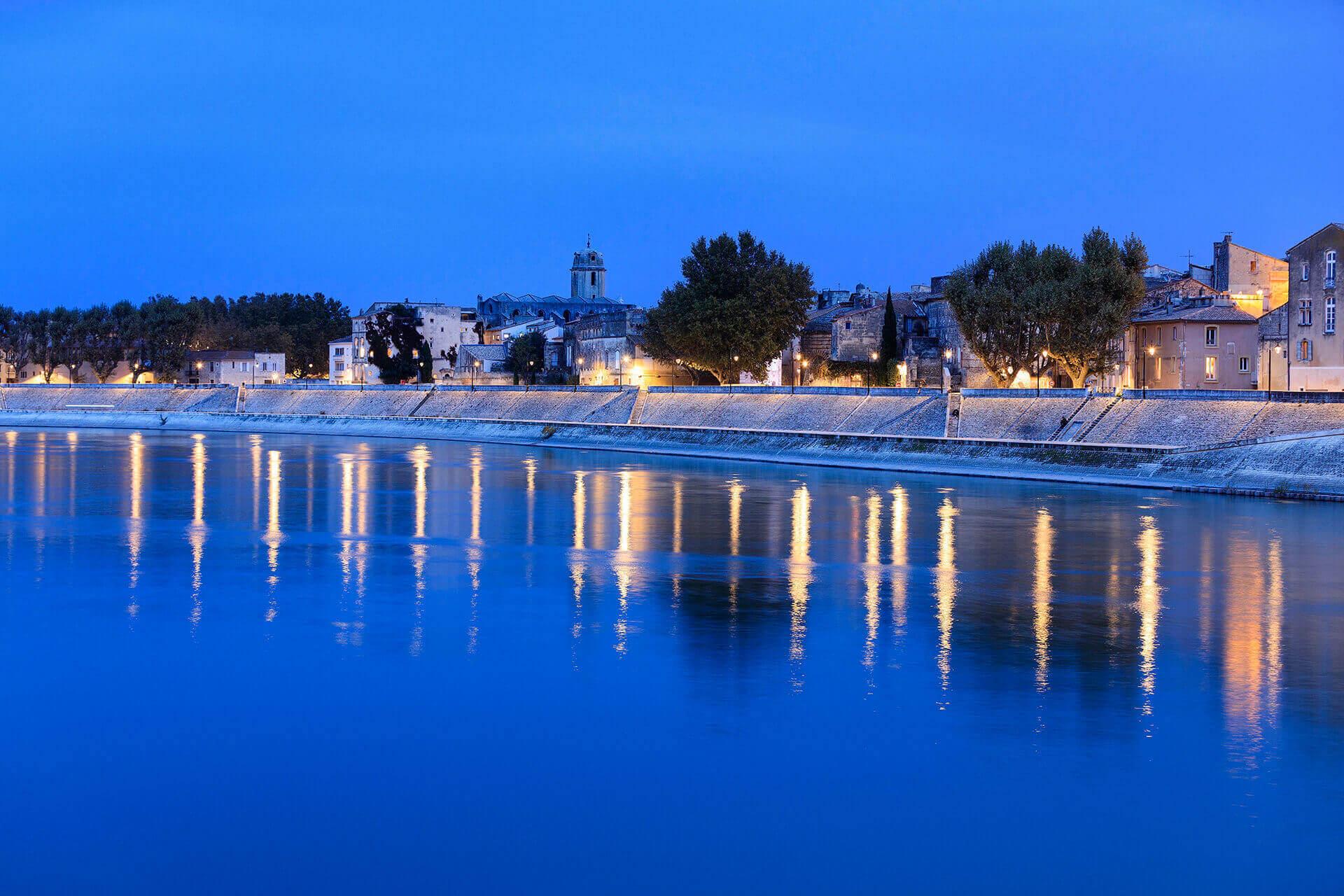 Le fleuve Rhône, Km 723 Bouches-du-Rhône, Arles